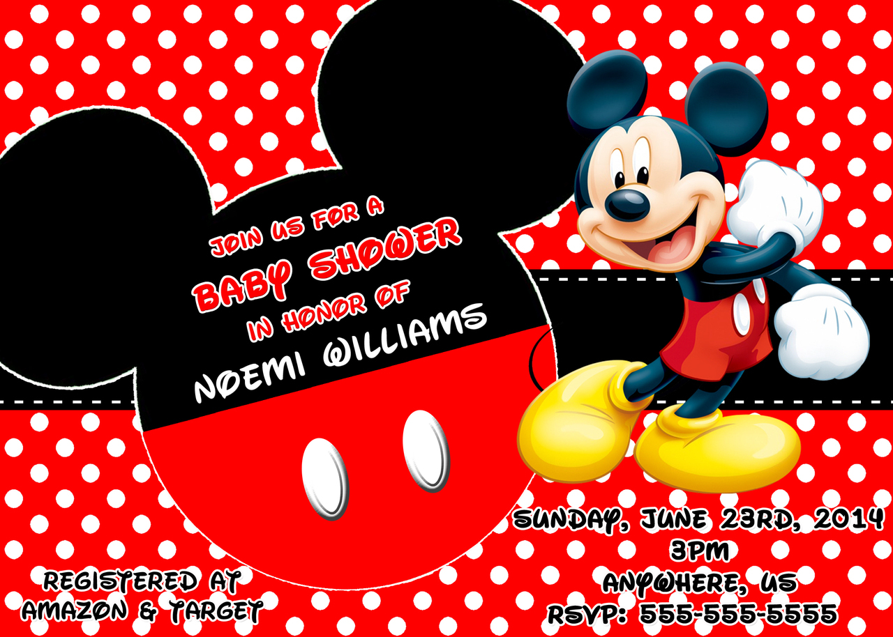 Mickey Mouse Clubhouse Custom Invitations was adorable invitations template