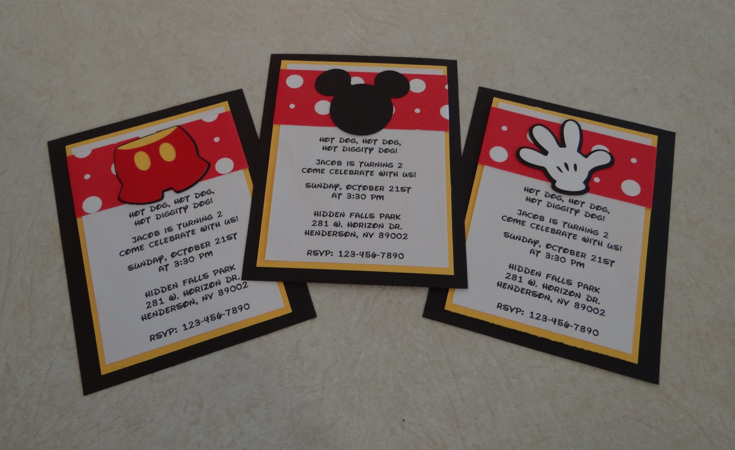 Mickey Mouse Birthday Invitations Birthday By Scrappin2gether