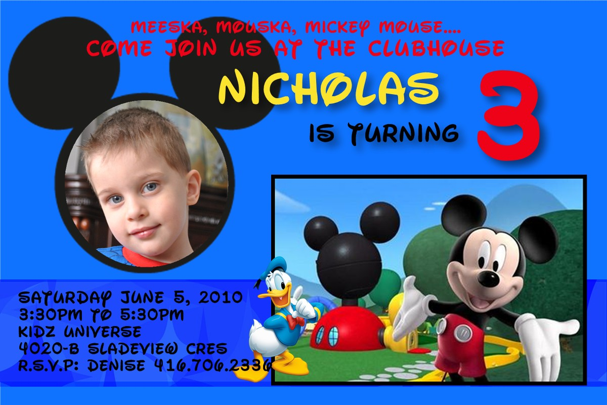 free mickey mouse invitations personalized  mickey mouse, Birthday invitations