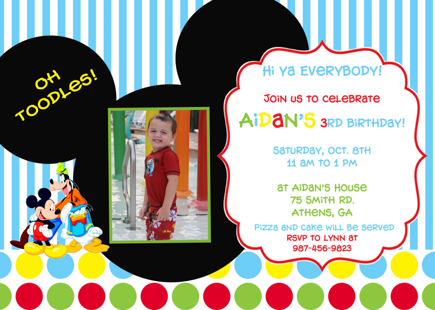 Mickey Mouse Clubhouse Birthday Party Invitation By Cohenlane