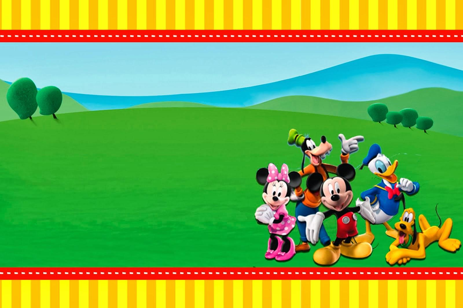 Mickey Mouse Clubhouse Invitations Template - Mickey Mouse Invitations Templates