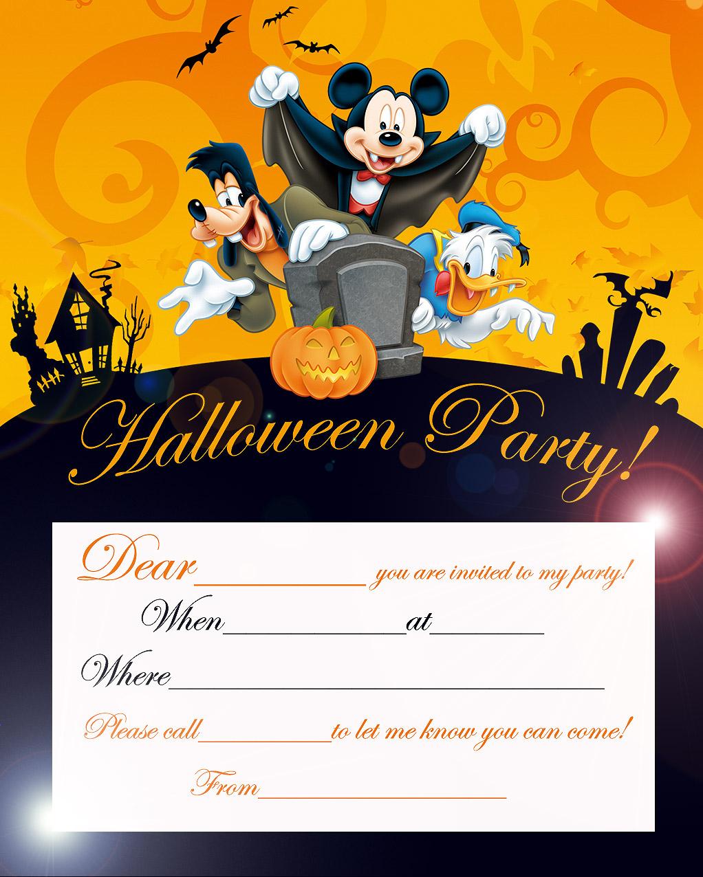 Mickey Mouse Halloween Invitations Mickey Mouse Halloween Birthday