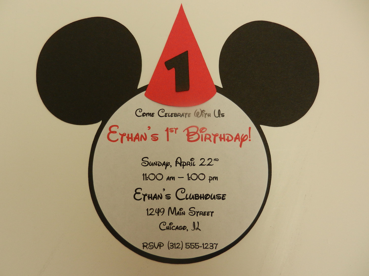 Mickey Mouse Inspired Invitations Mickey By Whimsycreationsbyann