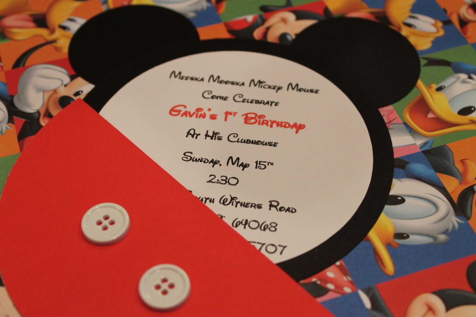 Unique Mickey Mouse Invitations Mickey Mouse Invitations Templates