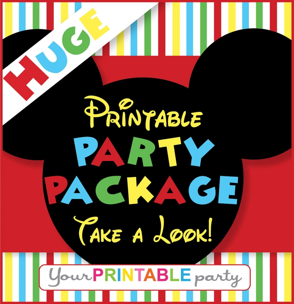 Mickey Mouse Party Decoration Printables