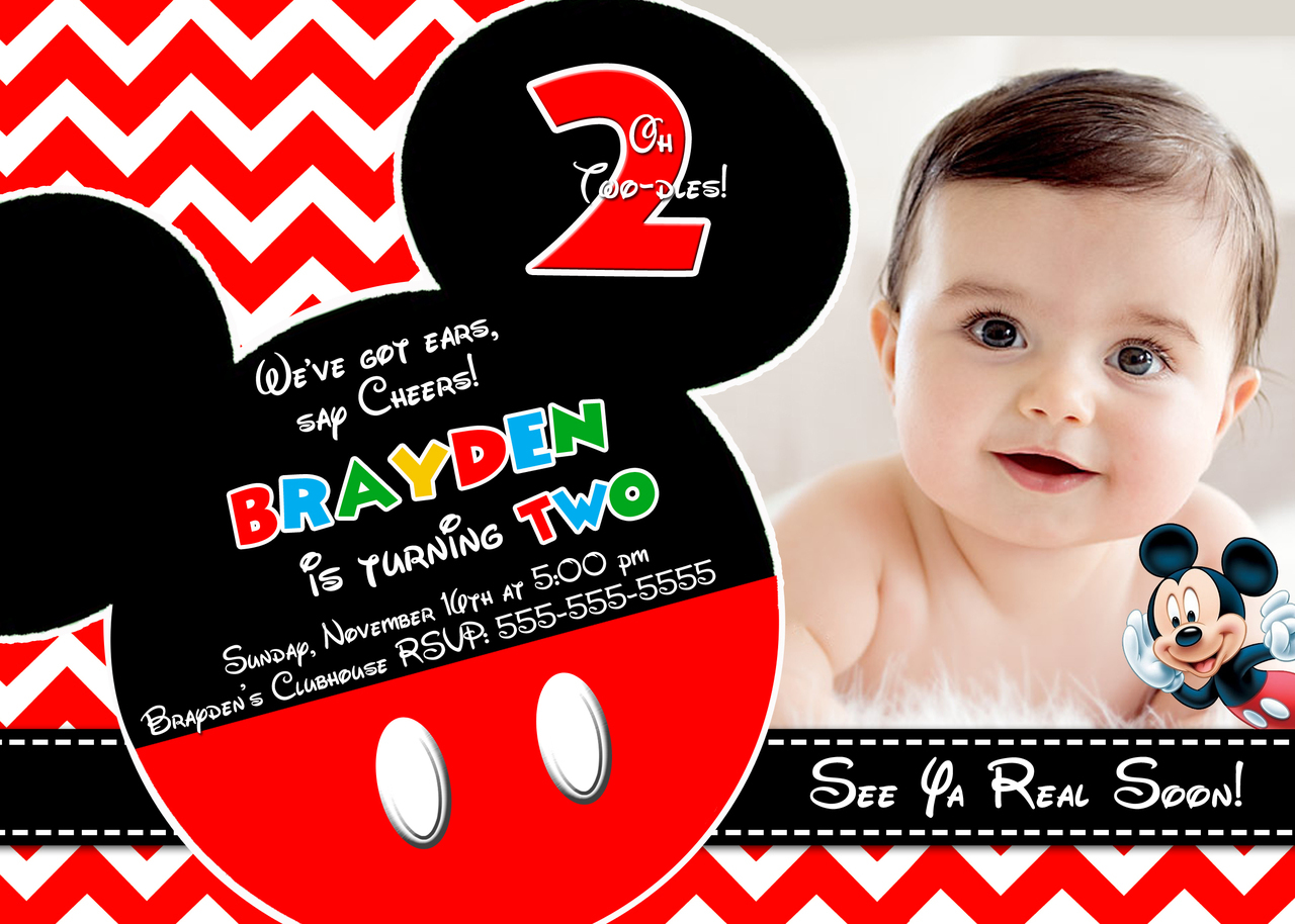 Personalized Mickey Mouse Birthday Invitations – Free Mickey Mouse Birthday Invitations