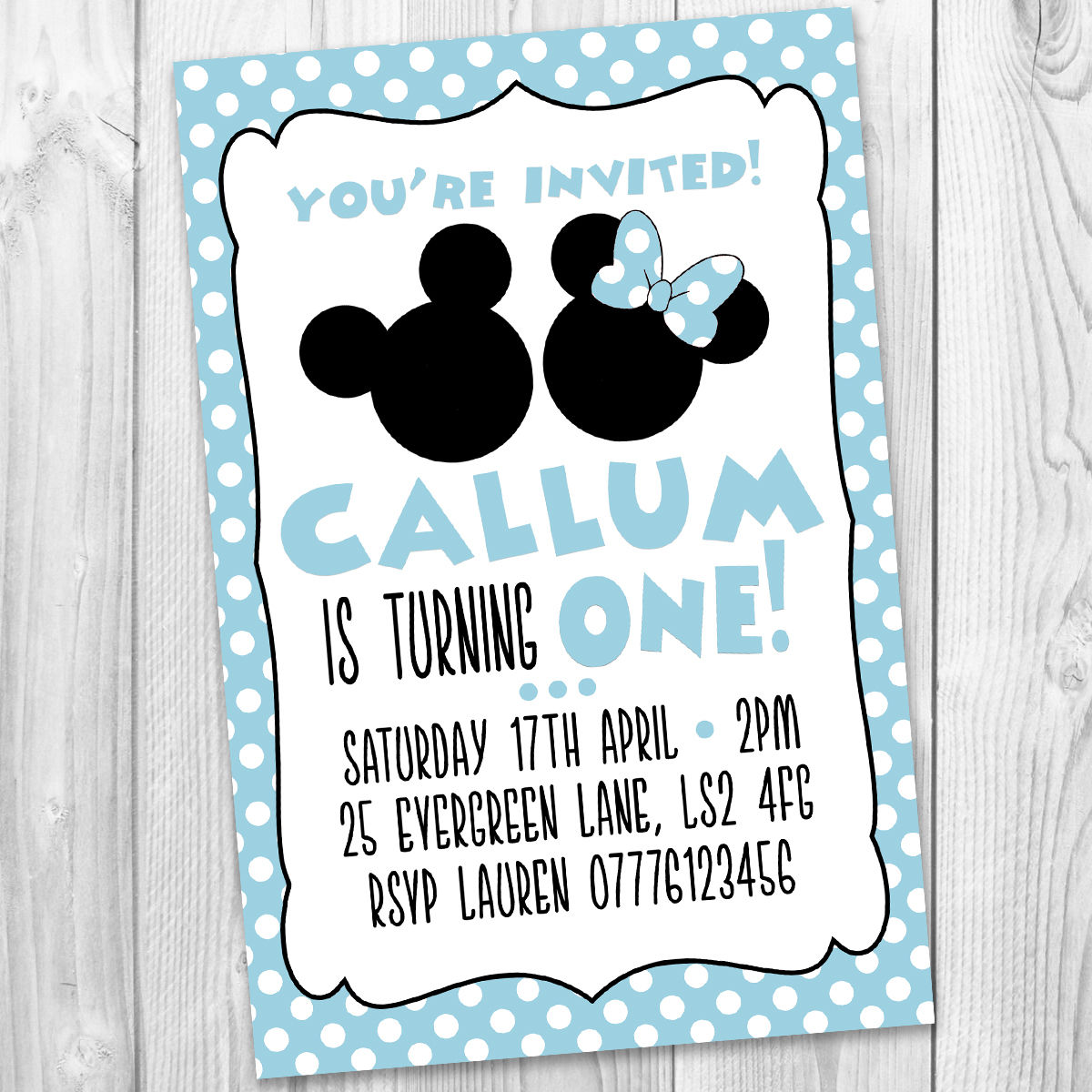 Mickey Mouse Party Invitations Uk