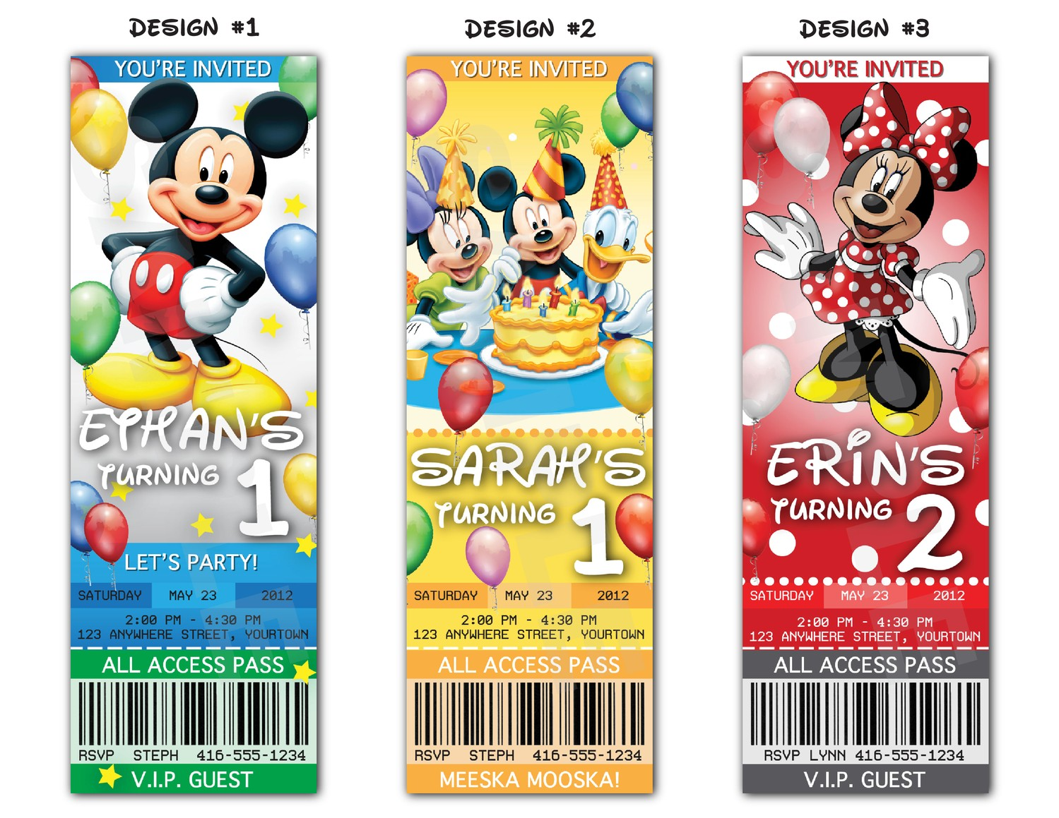 Mickey Mouse Invitation Tickets Orderecigsjuiceinfo Mickey Mouse Printable  Invitations Free 3 Mickey Mouse Invitation Tickets  Free Printable Ticket Style Invitations