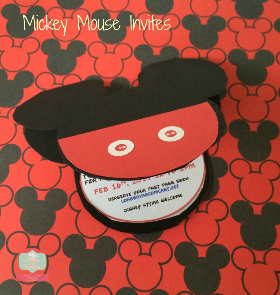 Micky Mouse Invitatins