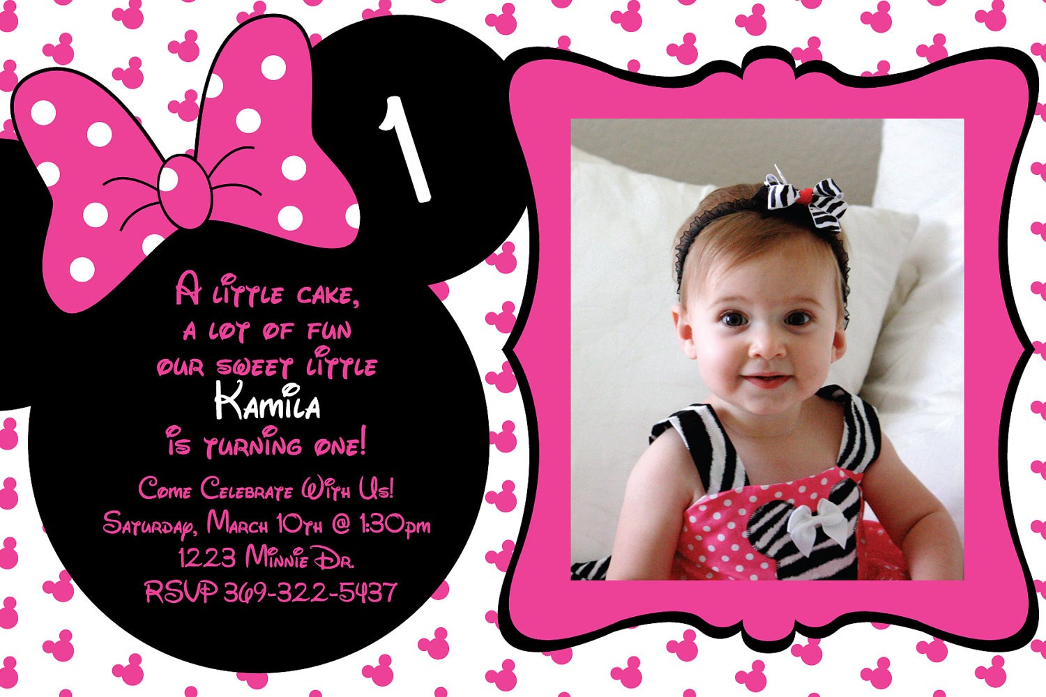 Minnie mouse birthday invitations templates filmwisefo