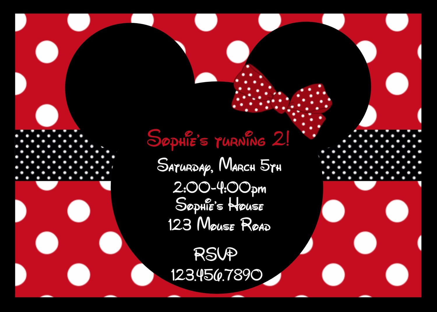 Minnie Mouse Birthday Invitations — Crafthubs