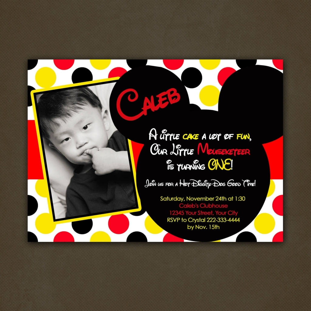 Personalized Mickey Mouse Invitations Ideas About Personalized