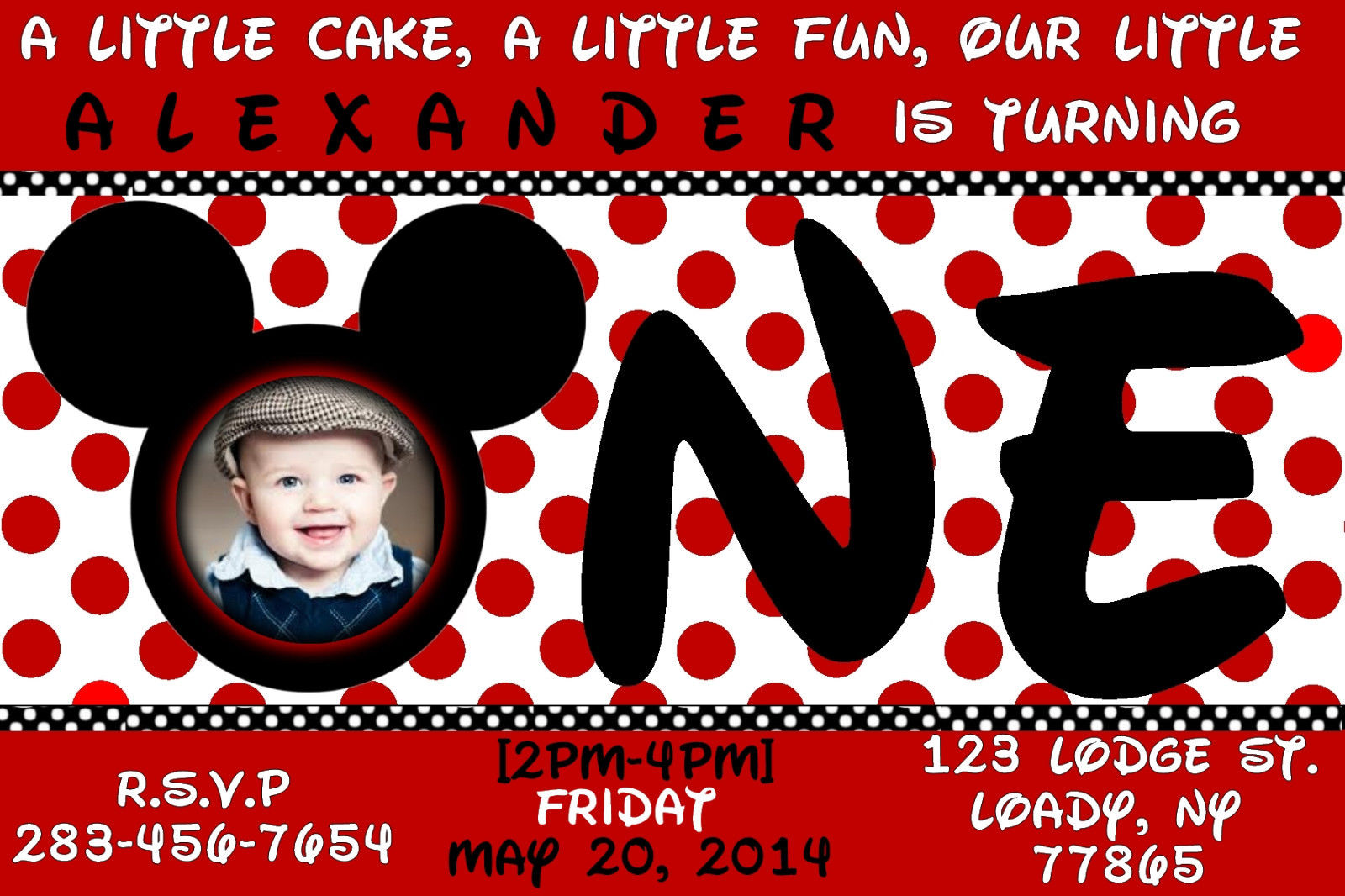 Template   Mickey Mouse Birthday Invitations