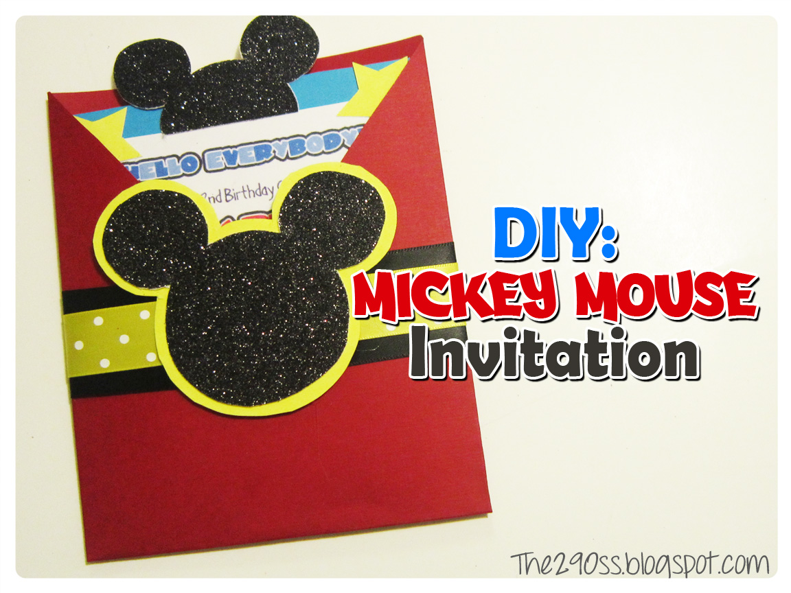 Homemade Mickey Mouse Invitations - Mickey Mouse Invitations Templates