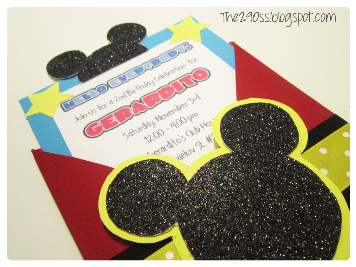 Homemade Mickey Mouse Invitations - Mickey Mouse Invitations Templates