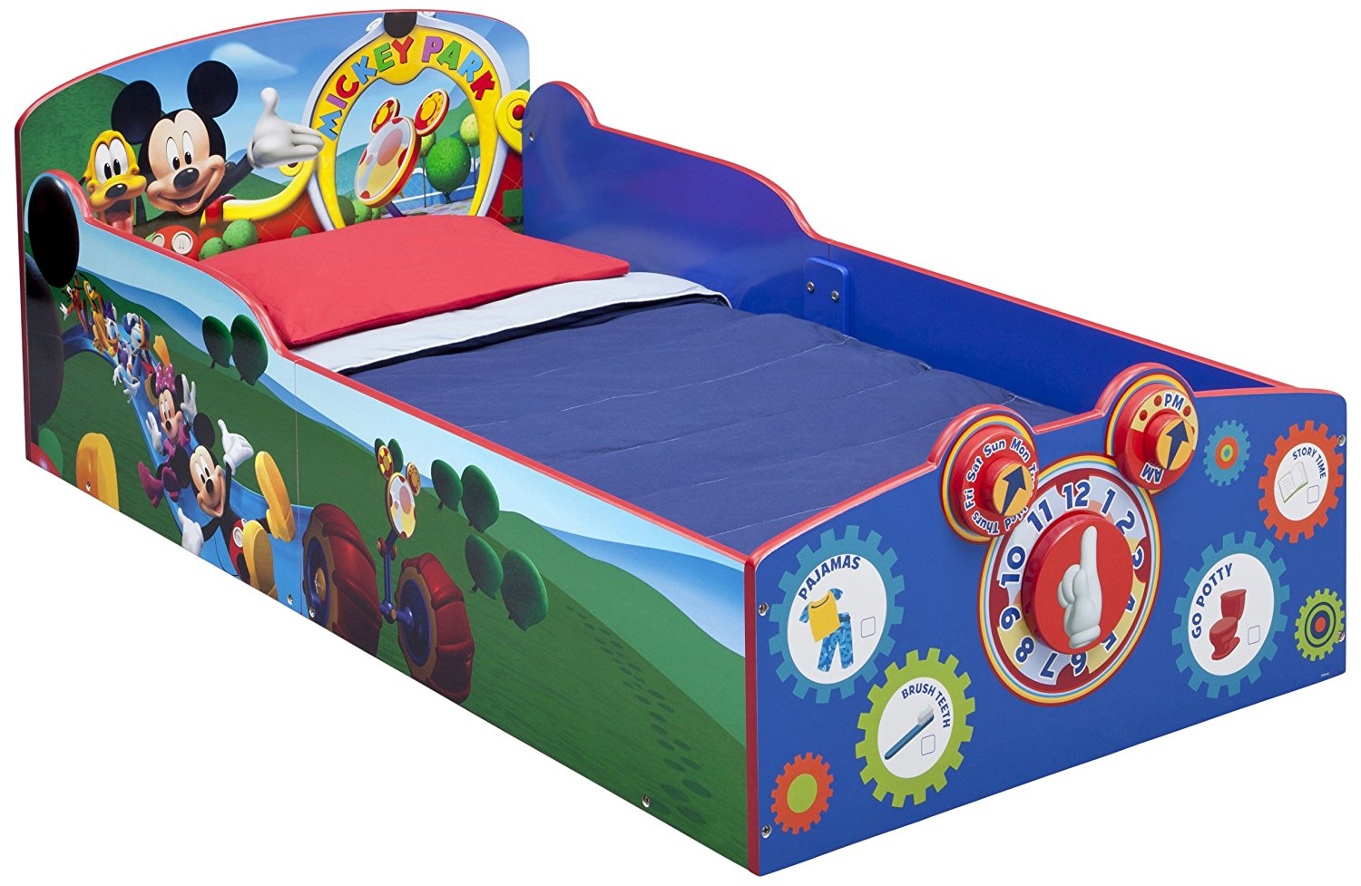 Amazon Com   Delta Children Interactive Wood Toddler Bed, Disney