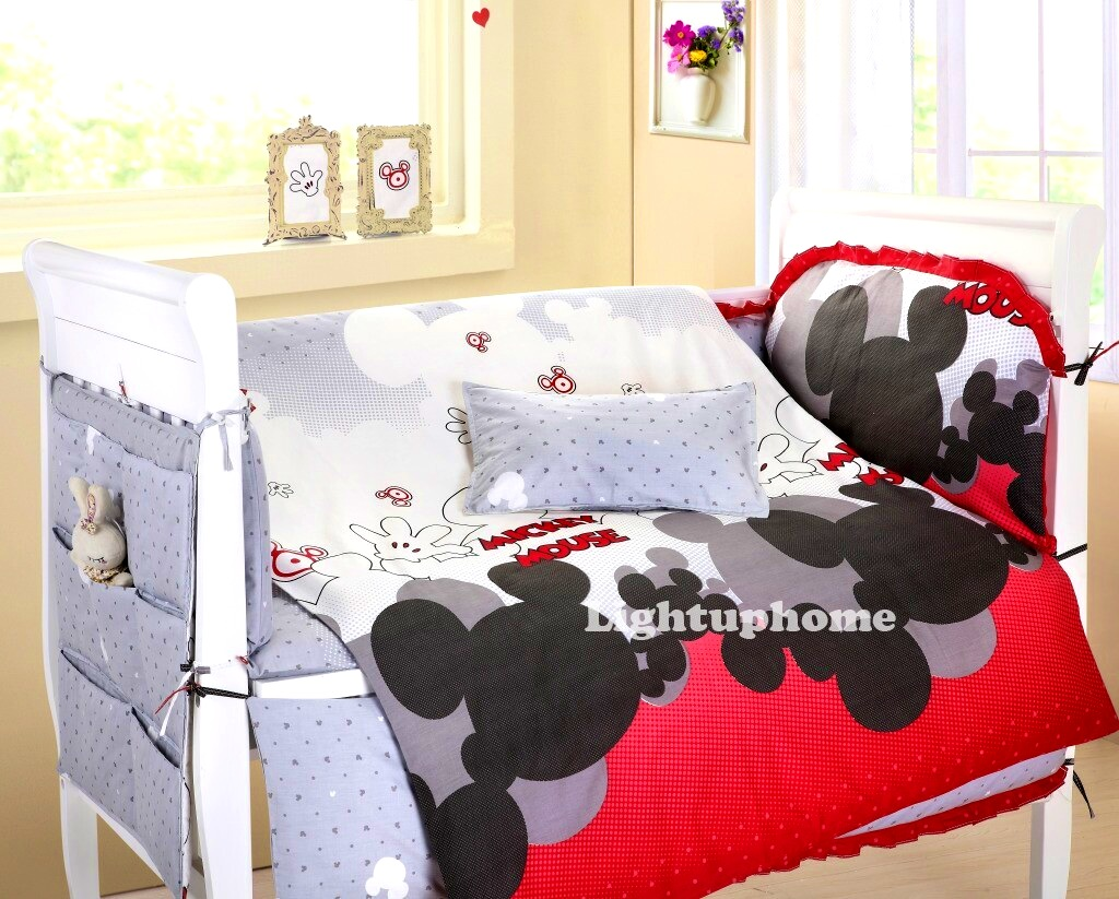 Bathroom   Delightful Mickey Mouse Crib Bedding Boys Twin