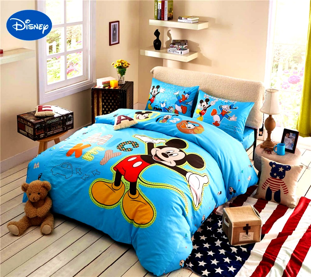 Bedroom   Astounding Popular Mickey Mouse King Size Bedding Buy