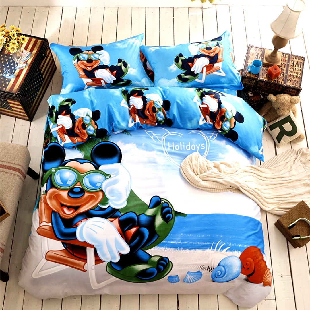 Bedroom   Cool Very Popular Mickey Mouse Queen Bedding All King