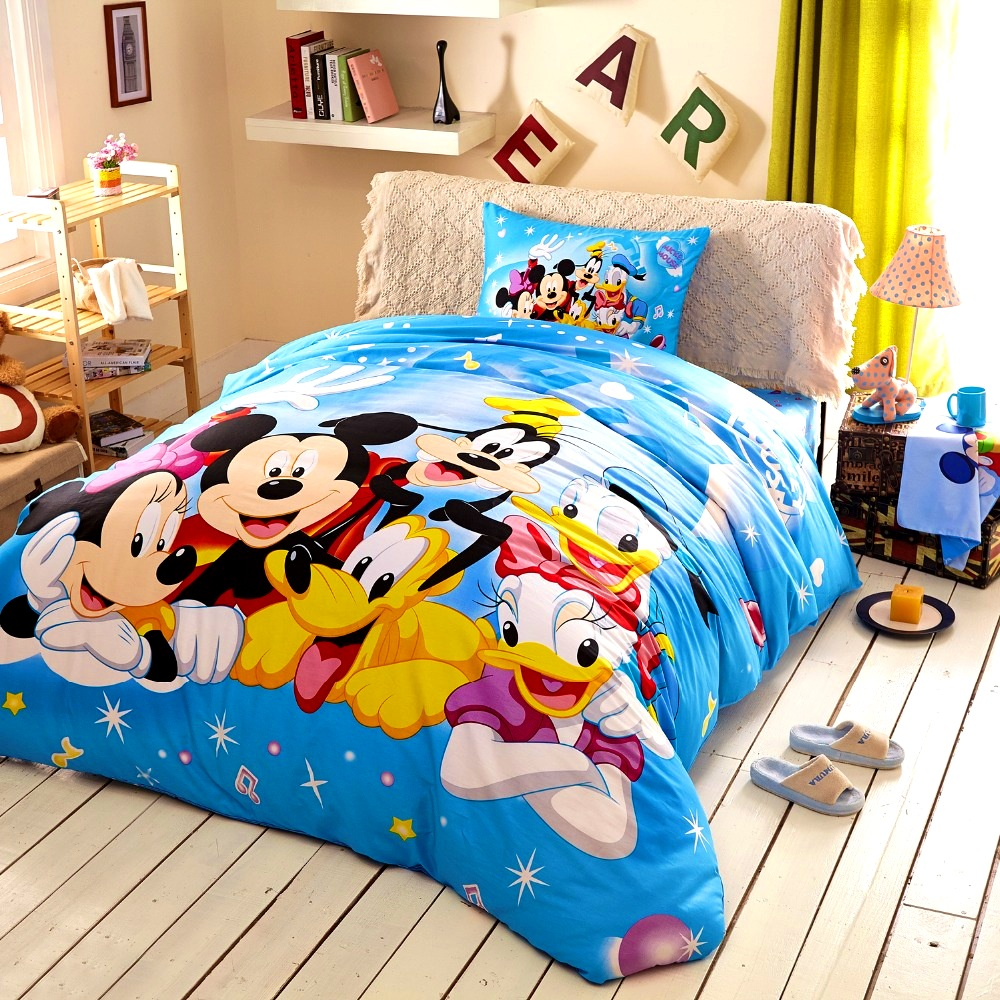 Bedroom   Wonderful Mickey Mouse Queen Size Bedding Home Design