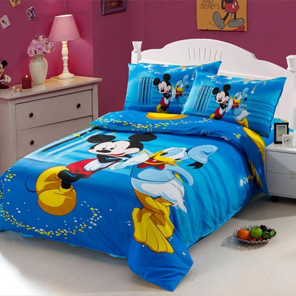 Cartoon Bedding Set Mickey Mouse And Donald Duck Bedding Sets