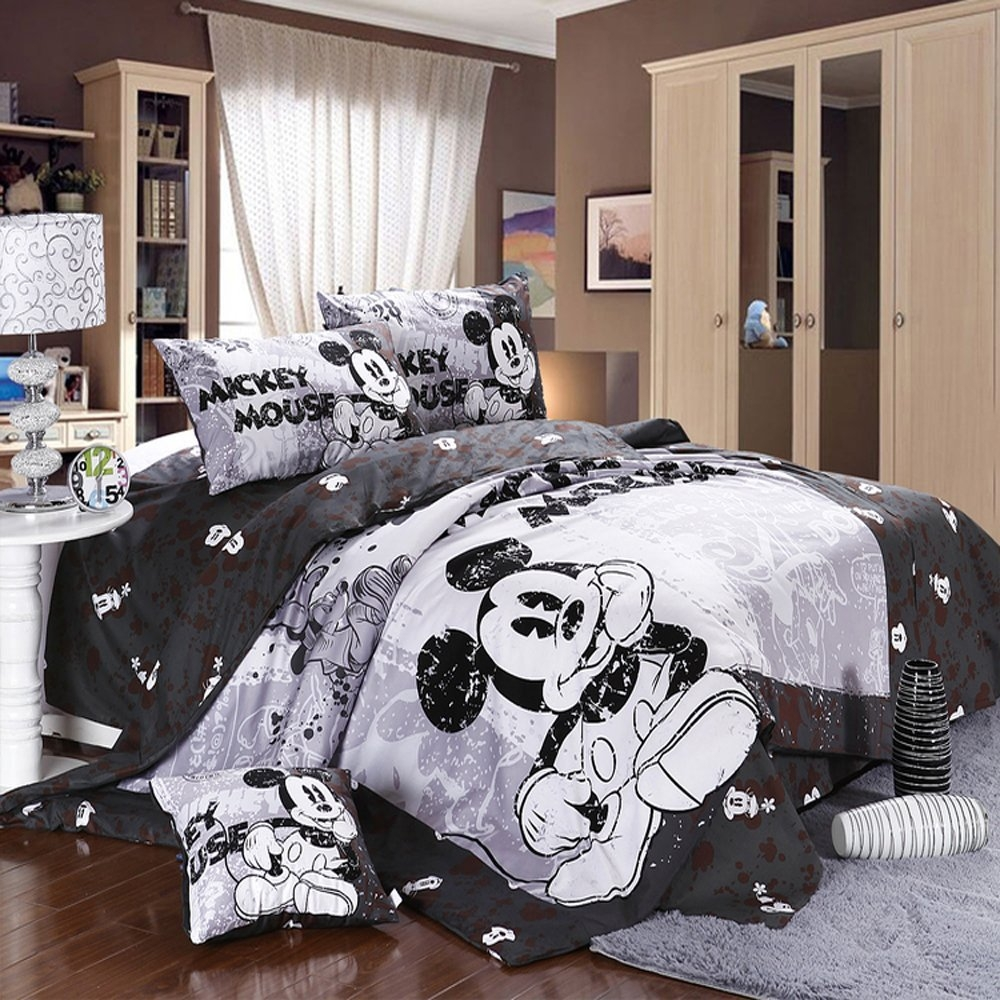 Cutest Mickey Mouse Bedding For Kids And Adults Too Inside Cute