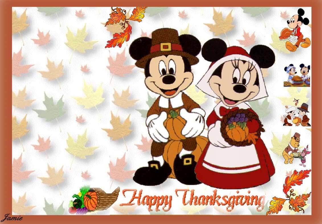 Disney Cartoon Thanksgiving Wallpapers