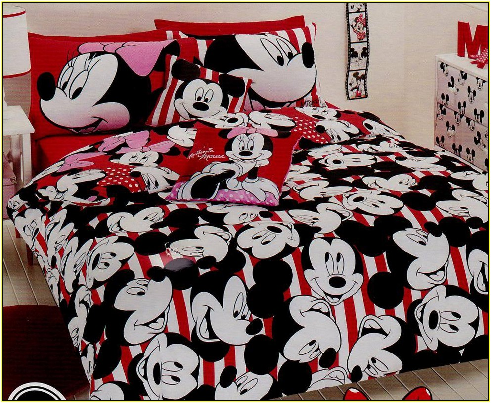 Disney Mickey Mouse Love Twin Bed In Bag Bedding Set, Mickey And