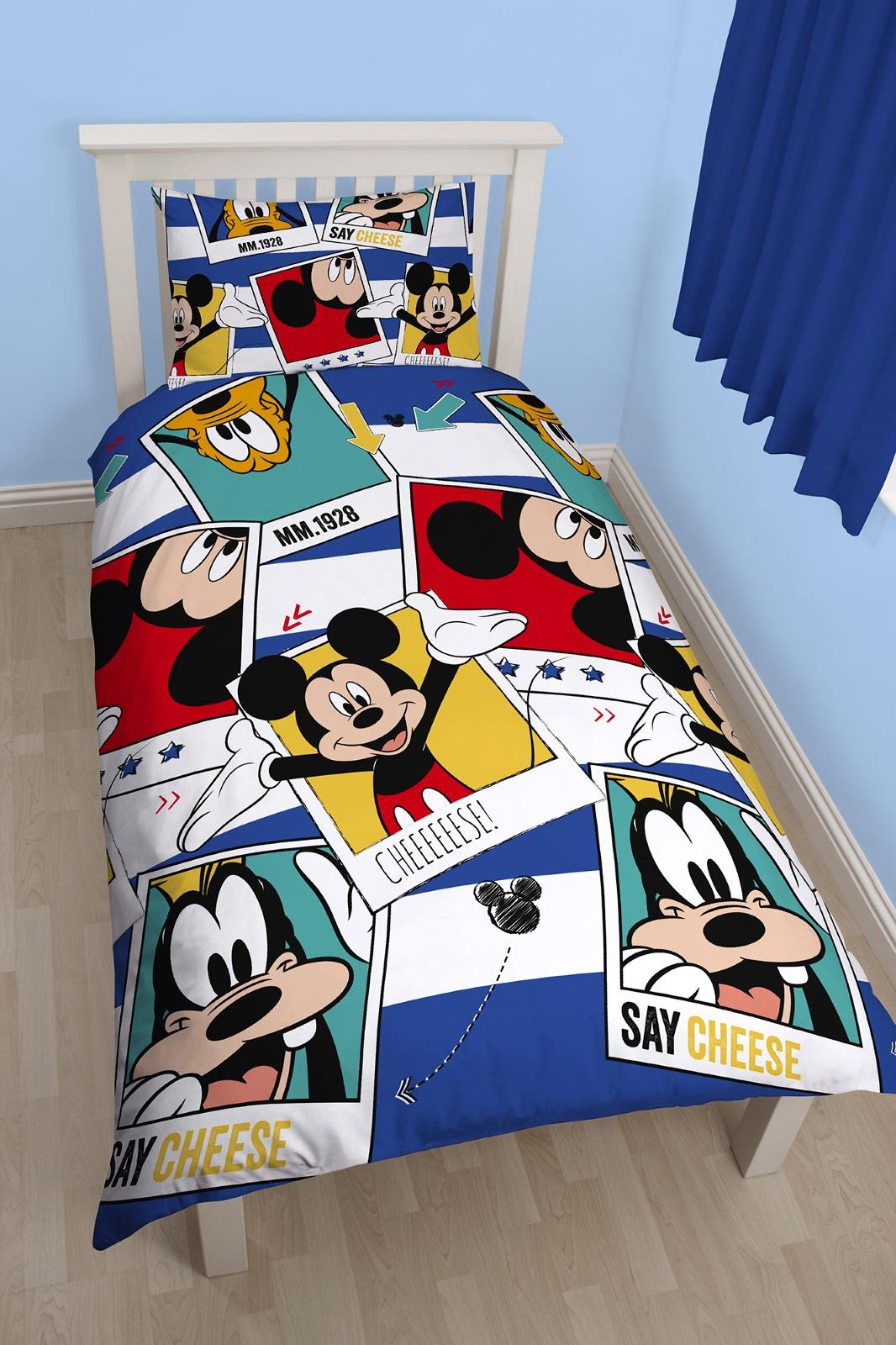 Disney Mickey Mouse Polaroid Single Duvet Quilt Cover &amp