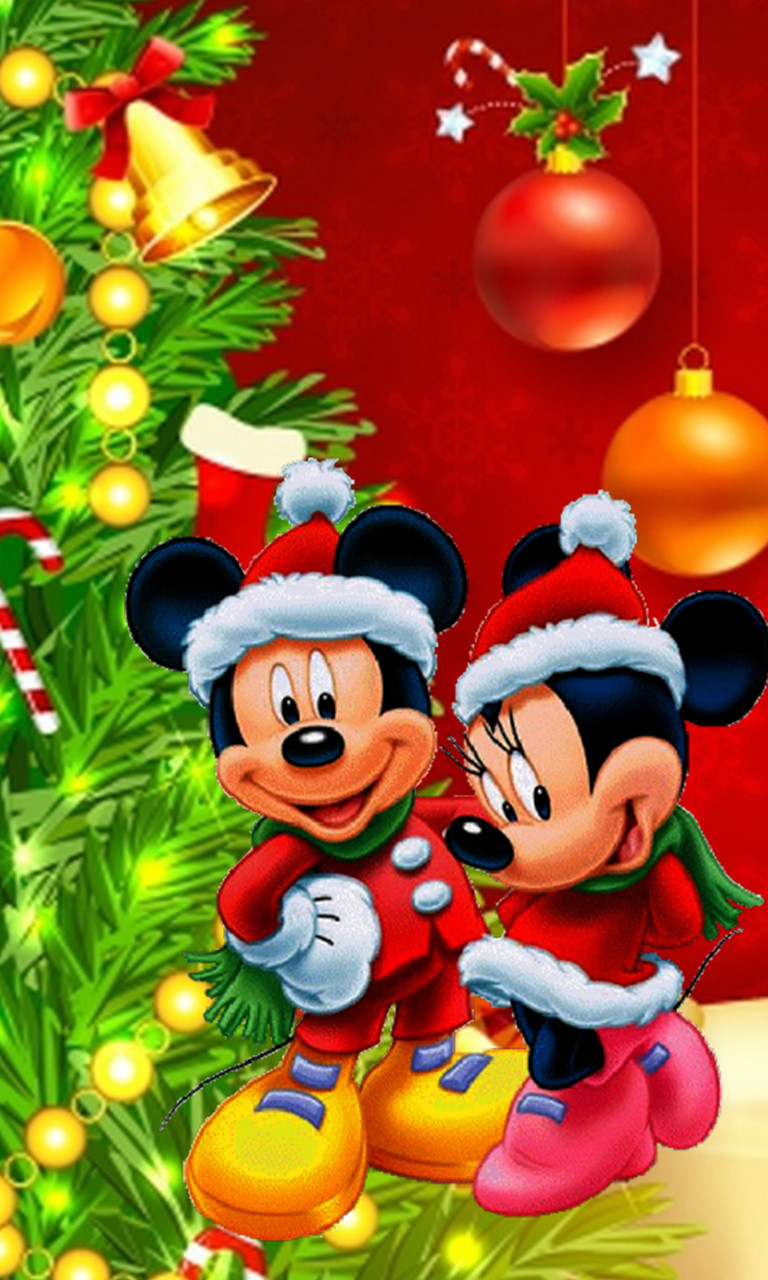 Free Mickey And Minnie Mouse Christmas Jpg Phone Wallpaper By