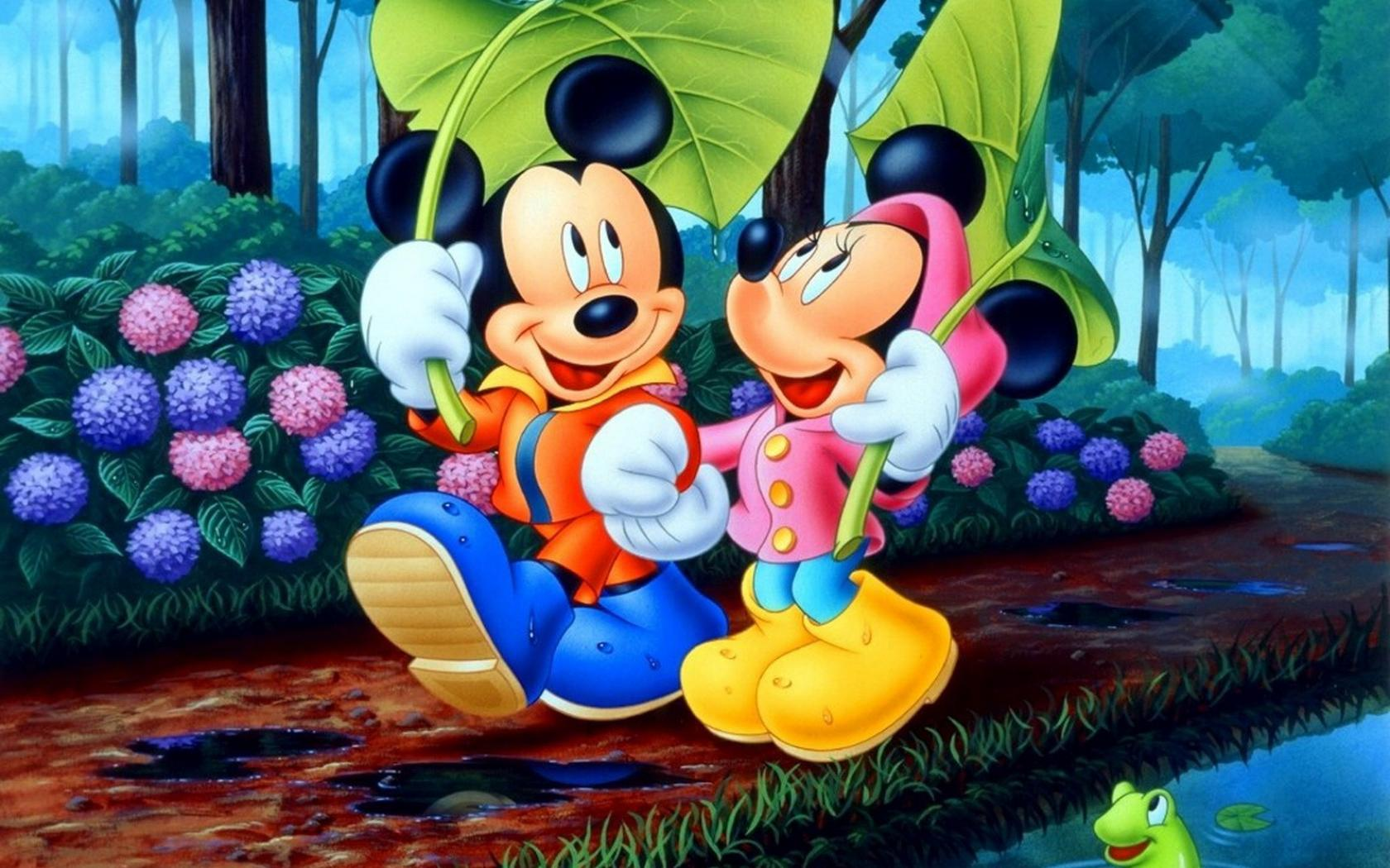 High Resolution Disney Cartoon Mickey And Minnie Mouse Wallpaper
