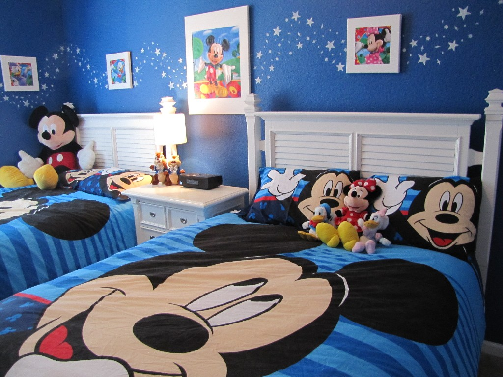 Kids Room Design, White Frames And Mickey Mouse Bed On Pinterest