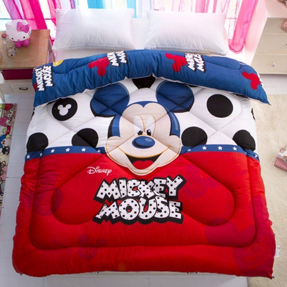 Kids Toddlers Bedding Cartoon Reversible Comforter Disney Mickey