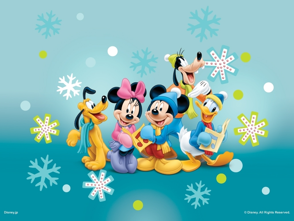 Mickey Mouse And Friends Caroling Wallpaper Disney Wallpaper