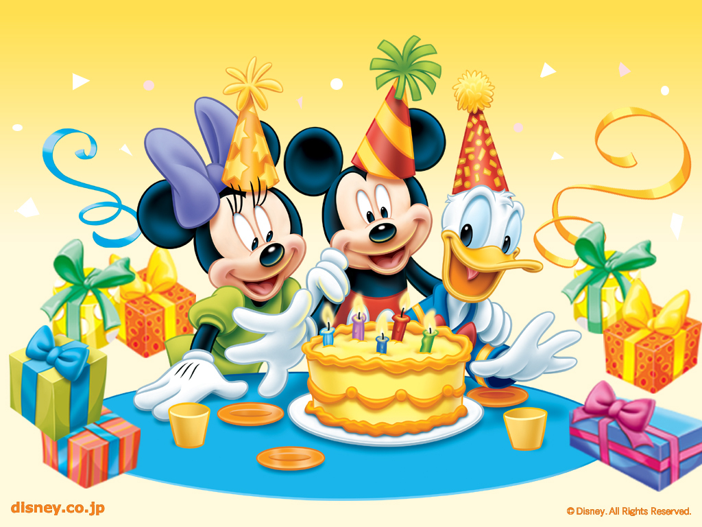 Mickey Mouse Birthday Wallpaper 28198 Hd Wallpapers