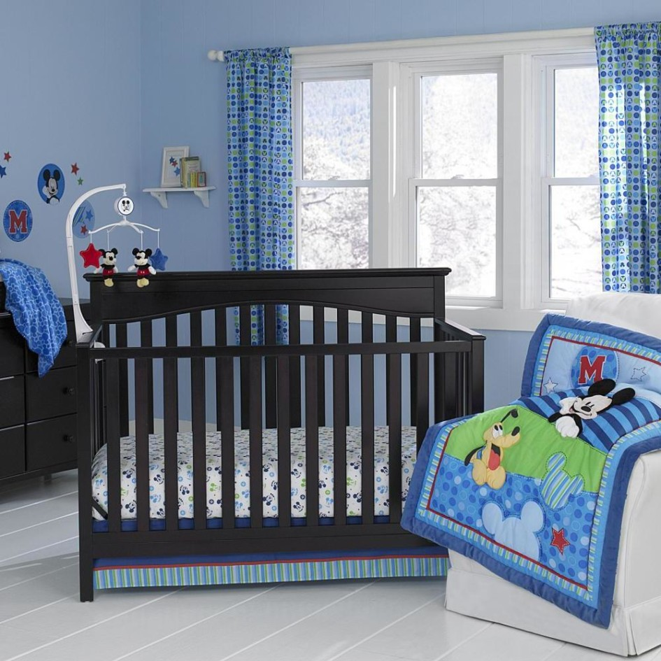 Mickey Mouse Crib Bedding For Cute Bedroom