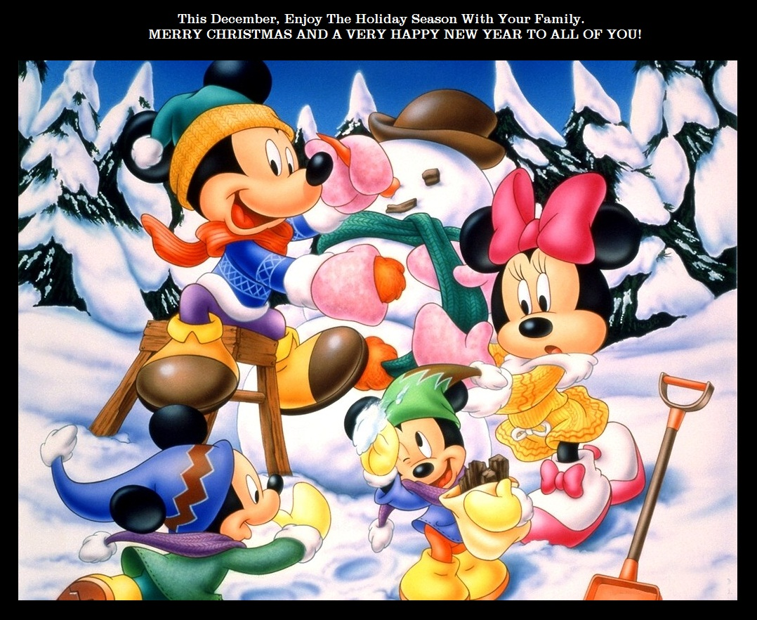 Mickey Mouse New Year Wallpaper Page 1