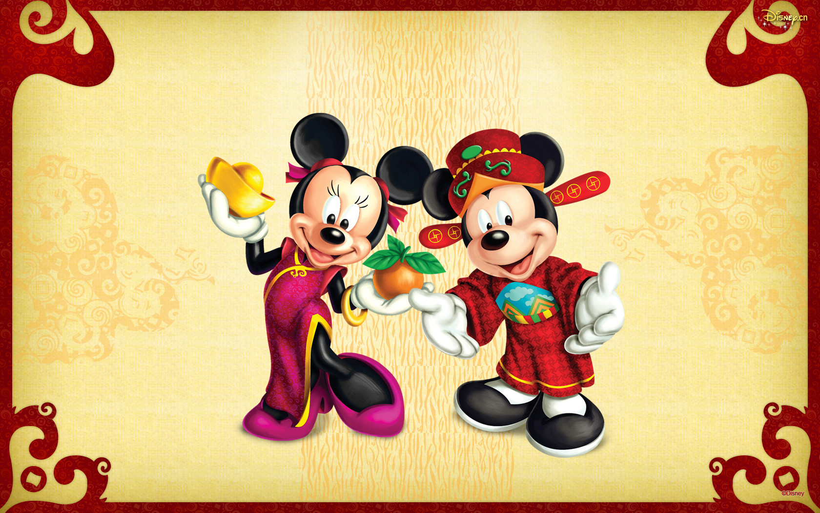 Mickey Mouse New Years Wallpaper