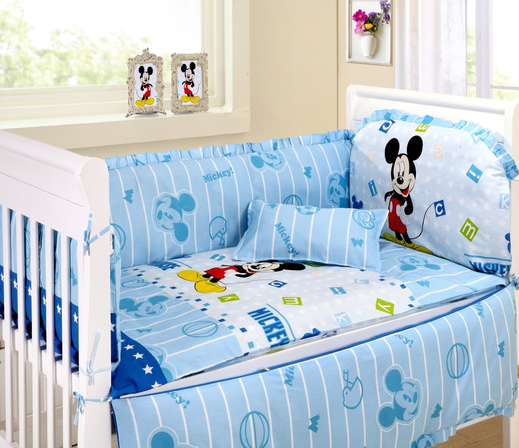 Mickey Mouse Sports Baby Bedding — Home Office Interiors