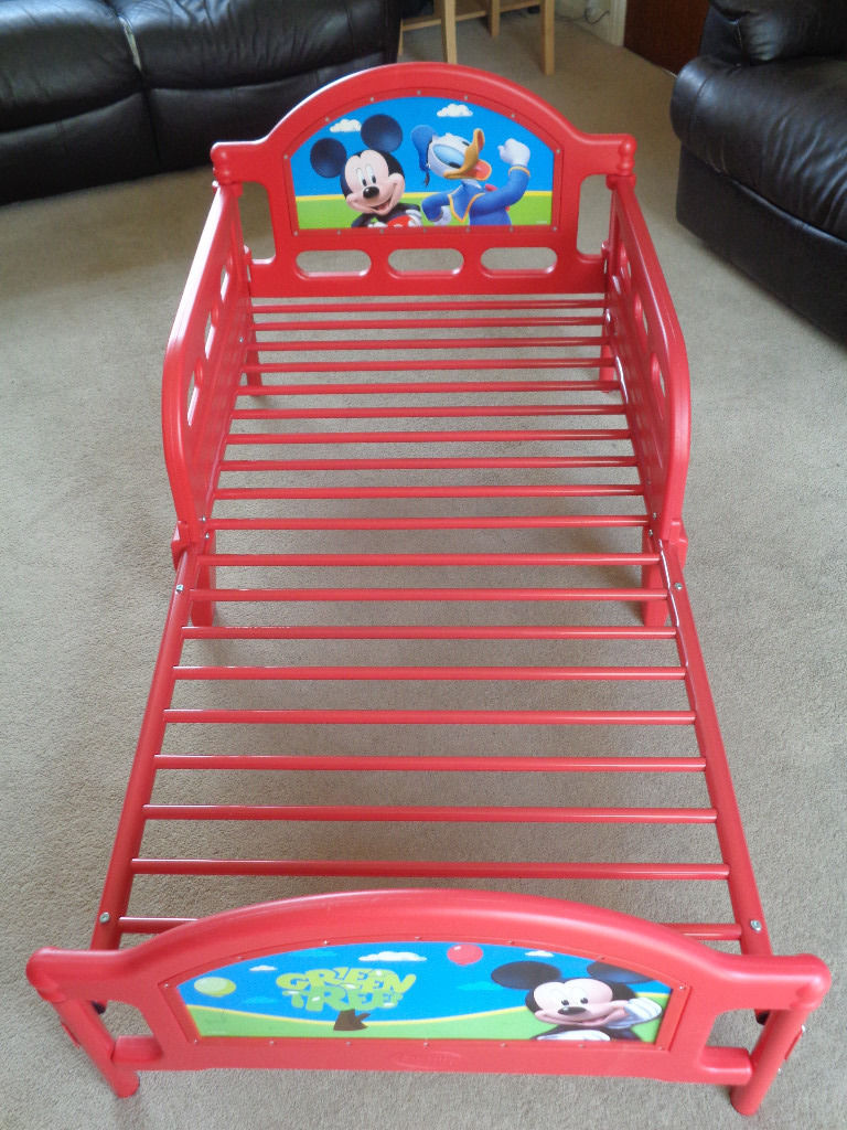 Mickey Mouse Toddler Bed Frame  147cm In Lenght, 75cm Width, 66cm