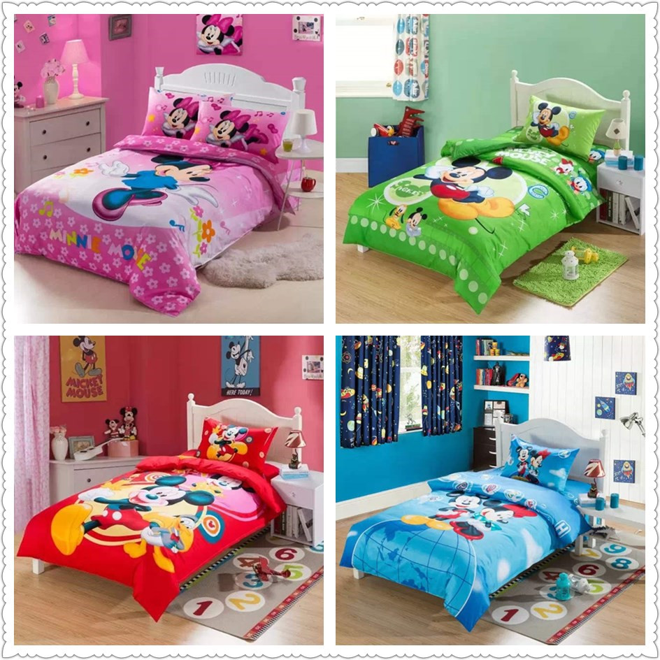 Online Get Cheap Mickey Mouse Bed Set Twin