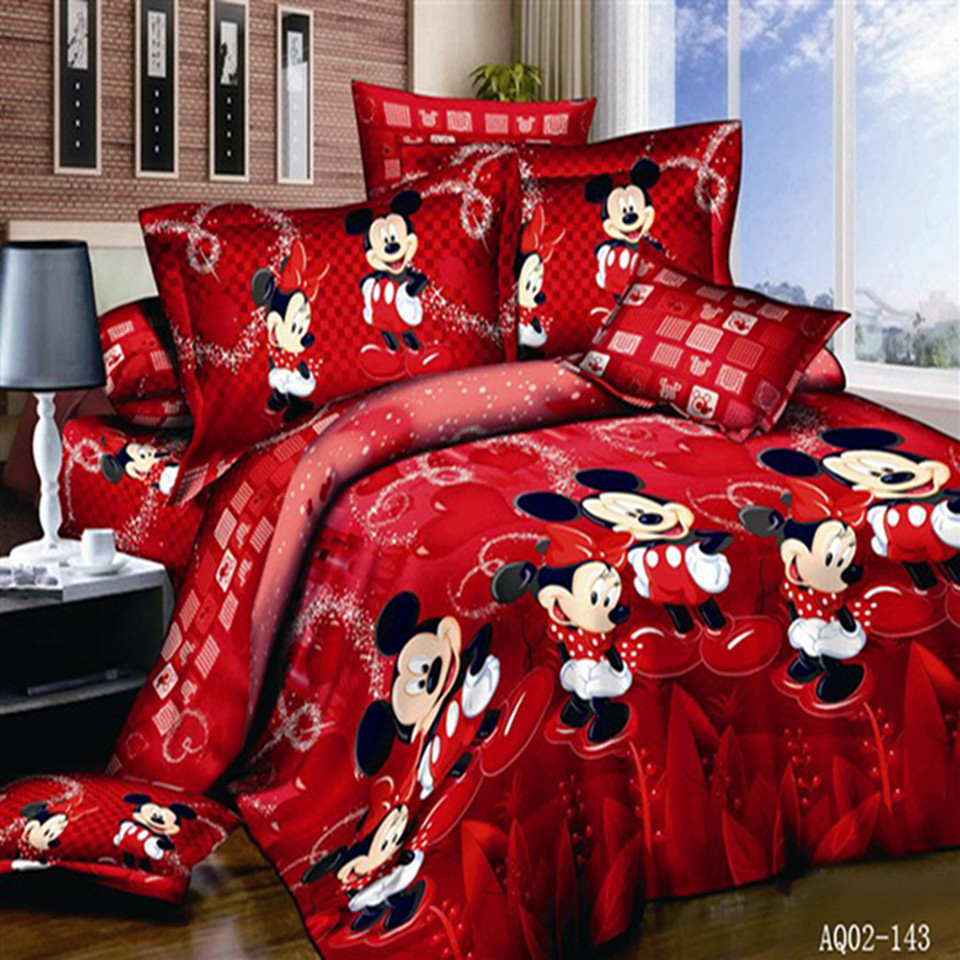 Online Get Cheap Mickey Mouse Comforter Set