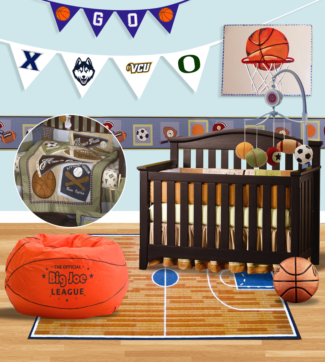 Sports Themed Baby Crib Bedding