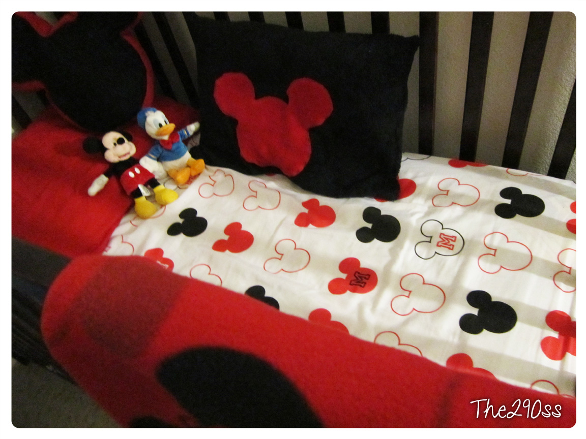 The290ss  Crib Sheets From A Twin Set, Mickey Mouse Themed