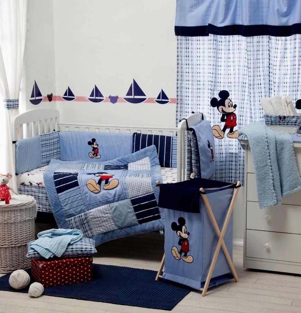 Vintage Mickey Mouse Crib Bedding