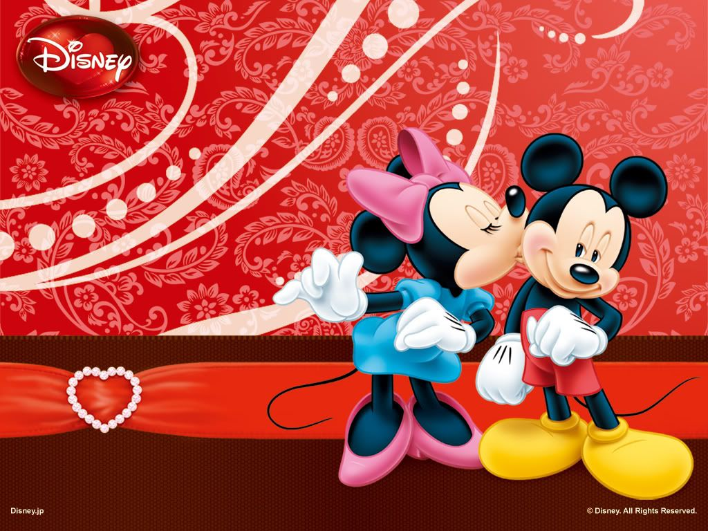 Wallpaper Mickey And Minnie Mouse