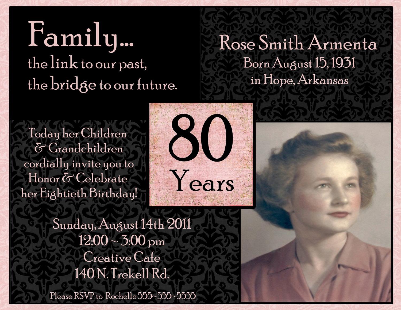 1000+ Ideas About 90th Birthday Invitations On Pinterest