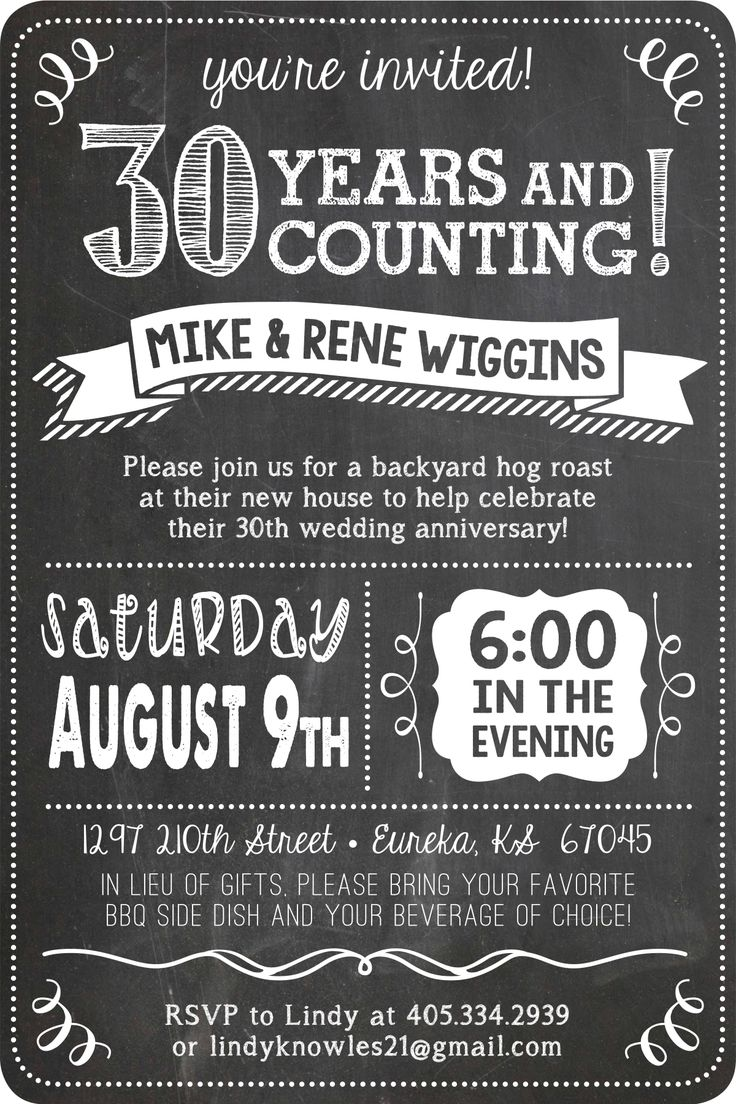 30th Wedding Anniversary Party Invitations - Mickey Mouse ...