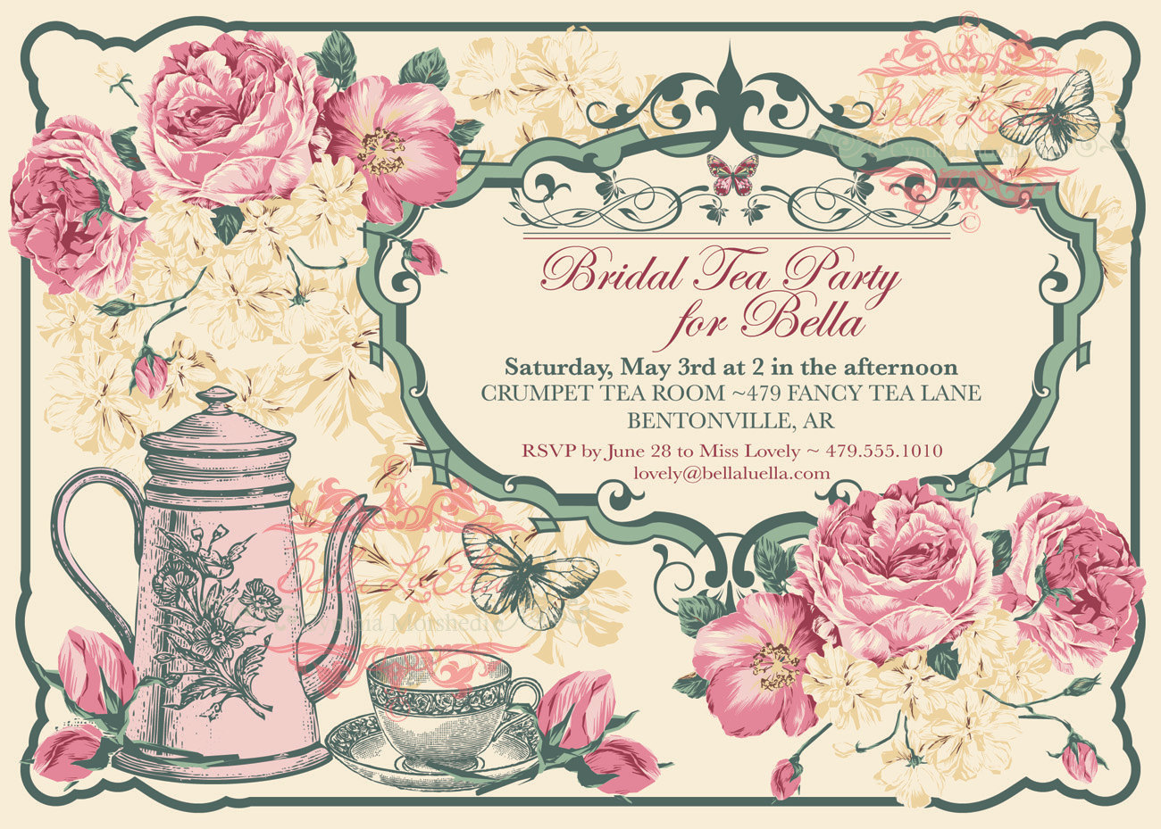 Vintage Tea Party Invitations - Mickey Mouse Invitations Templates