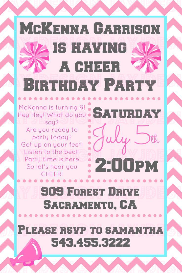 Cheerleading Birthday Invitations Gallery Invitation Templates